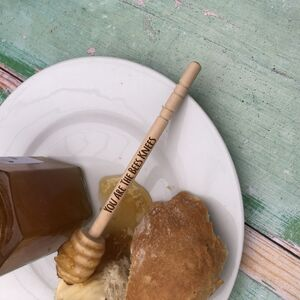 Personalised Long Wooden Honey Dipper Drizzler