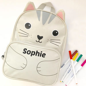 Personalised Cat Backpack