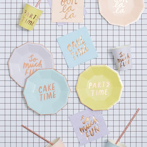 Let's Party Pastel And Rose Gold Party Range