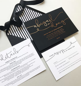 Kate Foil Wedding Invitations
