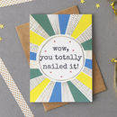 Well Done Foiled Greetings Card
