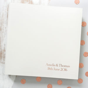 Traditional Ivory Wedding Album