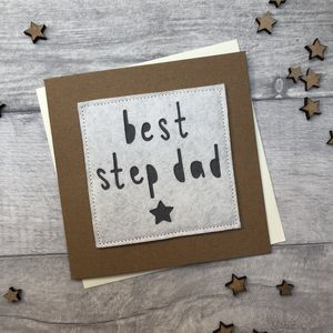Father's Day/Birthday 'Best Step Dad' Card - cards for step dads