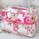 Vanity Bag In White Rose Print