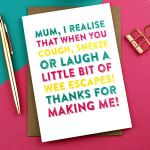Happy Mother's Day Laugh Sneeze Cough Funny Card - winter sale