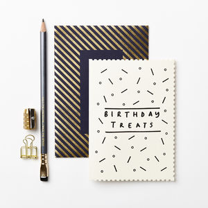 Deco B'day Treats Card