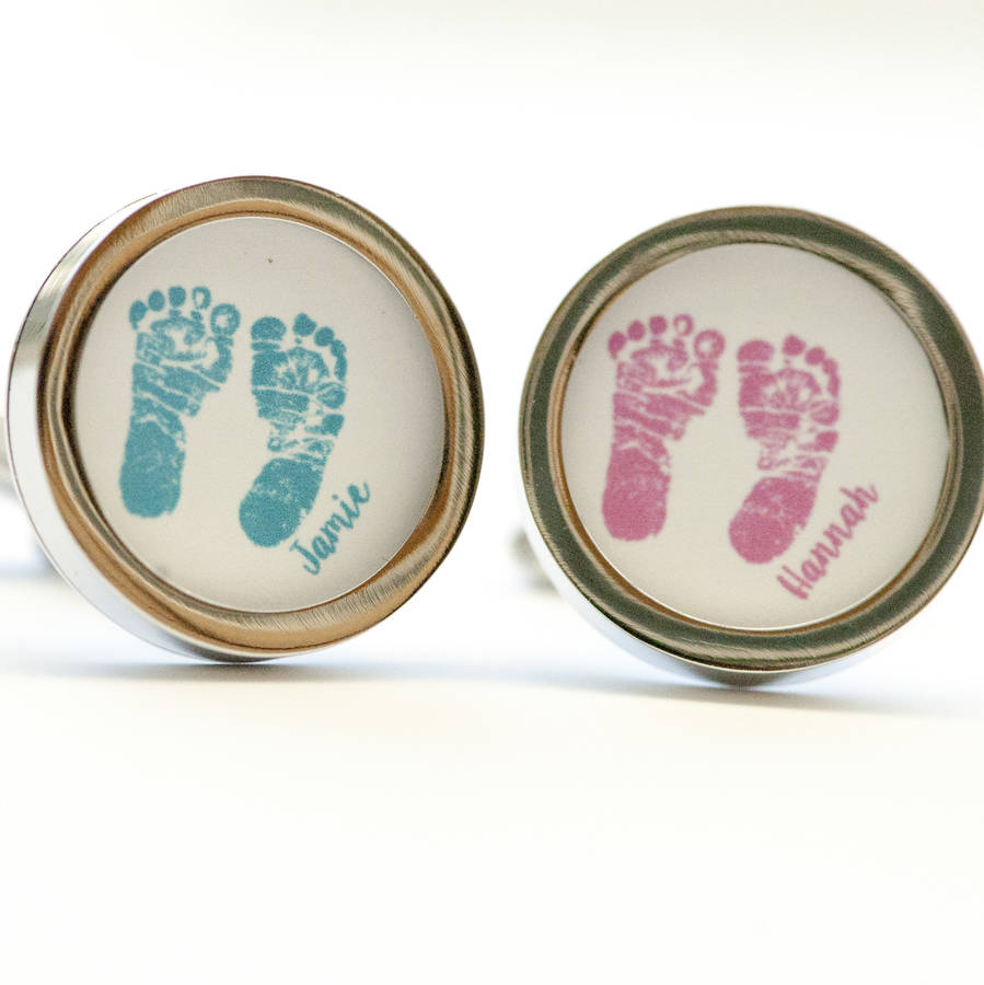 foot prints or hand prints on cufflinks by indira albert ...