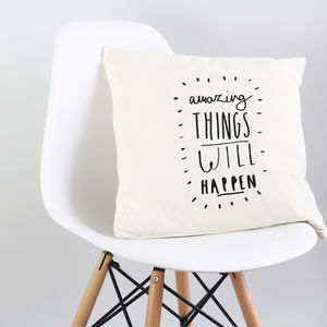 'Amazing Things' Cushion Cover - living room
