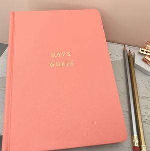 Goals Personalised Hardback Notebook Journal - diaries, stationery & books