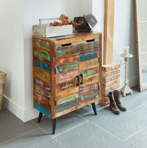 Dunes Reclaimed Wood Shoe Storage Cupboard - cabinets