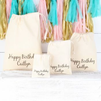 Personalised Happy Birthday Cotton Bag