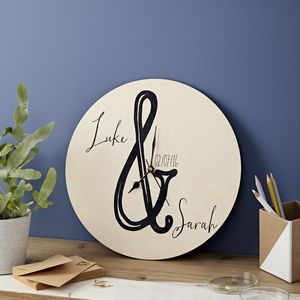 Personalised Ampersand Clock - gifts for couples