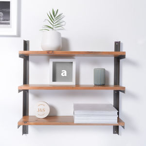 Reclaimed Wood And Steel Industrial Style Shelf Unit - storage