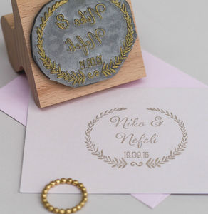 Wedding Favour Stamp Grecian