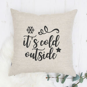 Christmas Gifts Cushion It's Cold Outside - bedroom