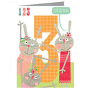 Happy Birthday Rabbits Three Card