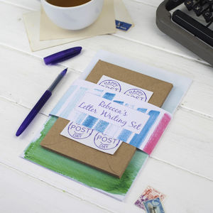 Personalised Watercolour Letter Writing Set