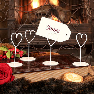 Ivory Heart Place Name Holders - place card holders