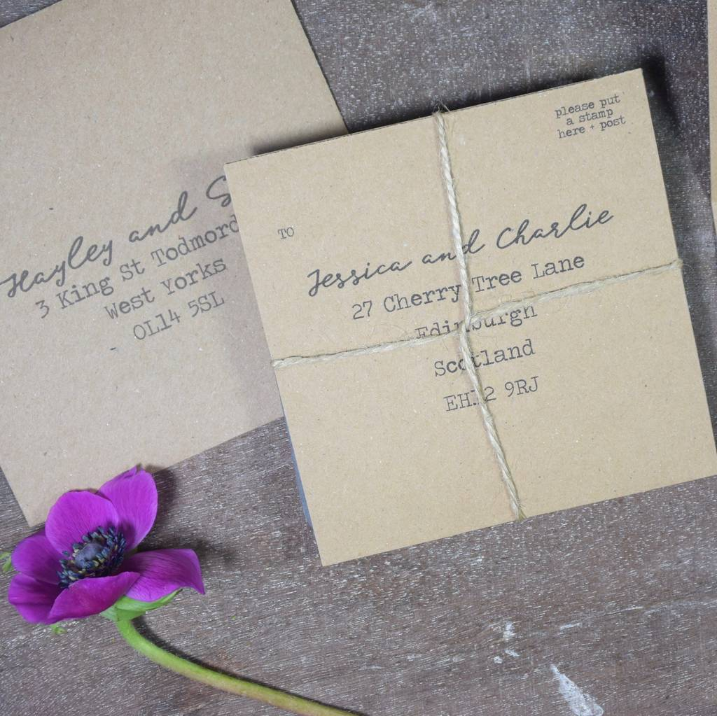 pressed flower tri fold wedding invitation by paper and inc. Black Bedroom Furniture Sets. Home Design Ideas