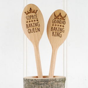 Personalised King Or Queen Baker Spoon - gifts for the home