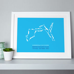 Favourite Golf Course Map Personalised Print - sport