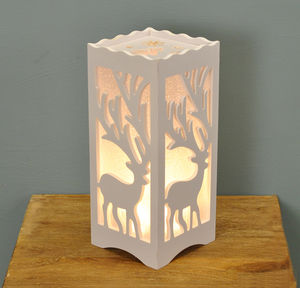 Stag Silhouette Table Lamp - table & floor lamps