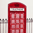 Close up of telephone box