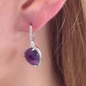 Amethyst Earrings Chiwi Drop Diamante Earrings