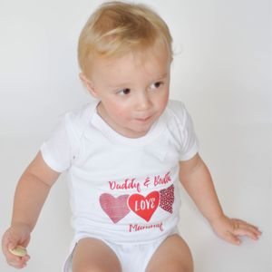 Daddy And Baby Love Mummy Babygrow - babygrows