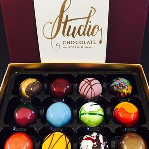 Handpainted Chocolate Collection Box Of 12 - what's new