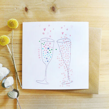 'Clink' Celebration Card