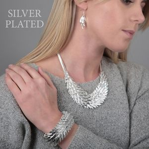Feather Necklace Set - women's jewellery