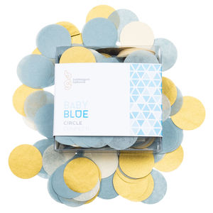 Baby Blue Confetti Circles - table top decorations