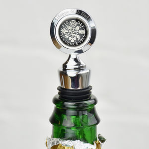 Sixpence Year Enamel Coin Bottle Stopper