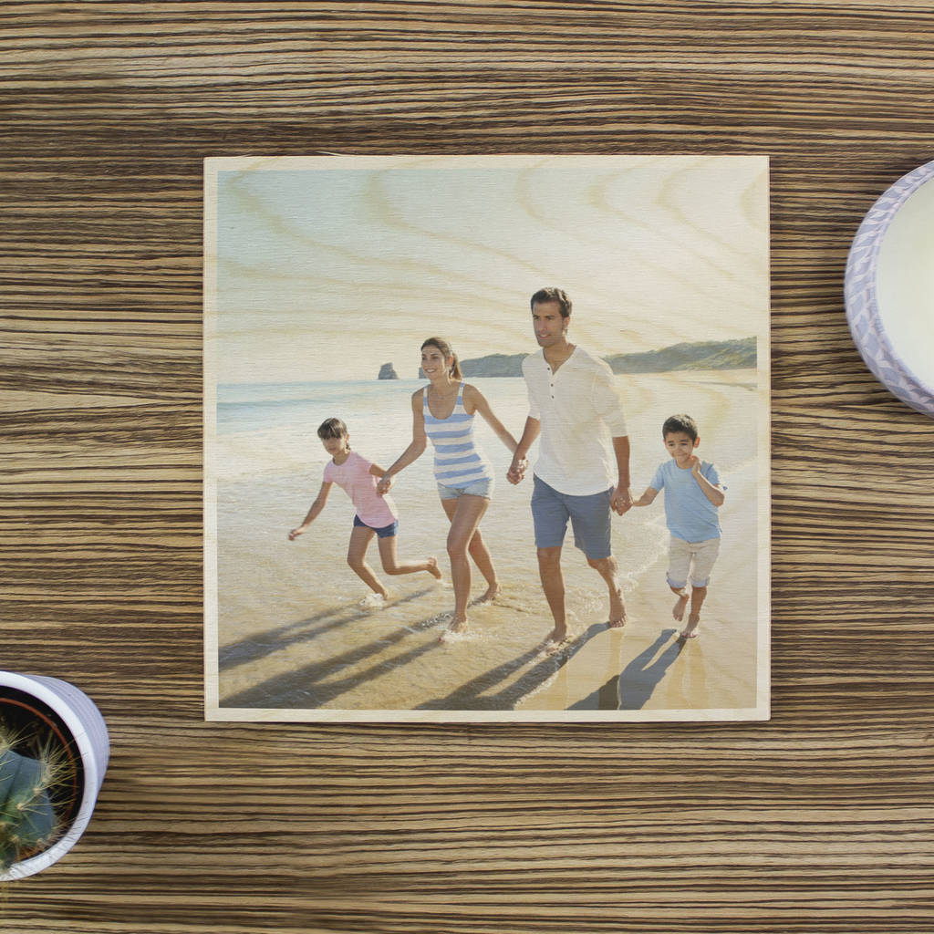 Personalised Wooden Photo Print