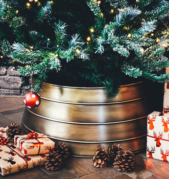 Gold Metal Christmas Tree Skirt