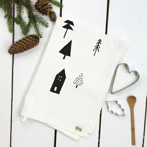 Woodland Tea Towel - table decorations