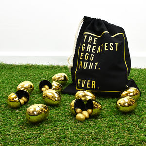 'The Greatest Egg Hunt Ever' Easter Egg Bag - children's easter