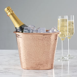 Hammered Copper Bottle Cooler - gifts for mothers