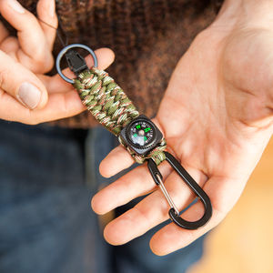 Survival Keyring With Compass