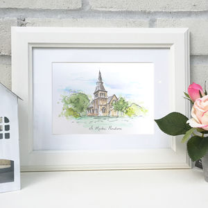 Personalised Wedding Venue Illustration - personalised