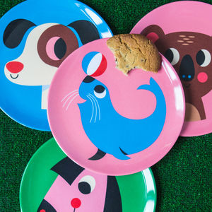 Retro Design Animal Melamine Plate - baby care