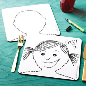 Design A Guest Placemat - stocking fillers for babies & children