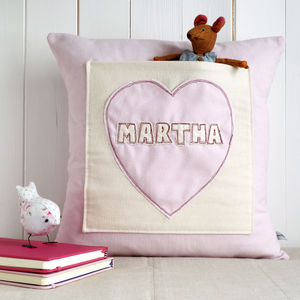 Personalised Pocket Cushion For Girls - nursery cushions