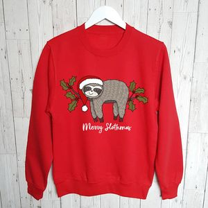 Merry Slothmas Family Christmas Jumper