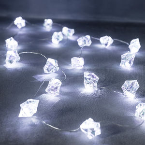 20 White Iridescent Ice Cube Micro Lights