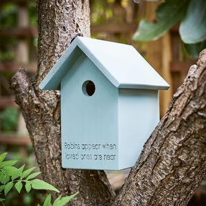 Handmade Wooden Bird Box - gifts for him