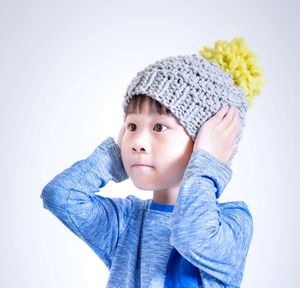 Knit Your Own Kid's Mini Luca Pom Hat Kit - sewing & knitting