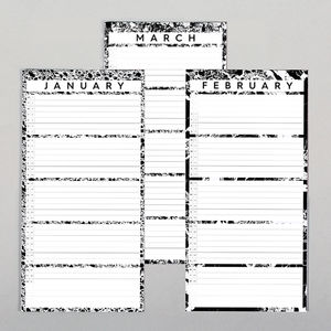 Xl Refill Pages For The 2018 Pinboard Calendar - 2017 & 2018 calendars & planners