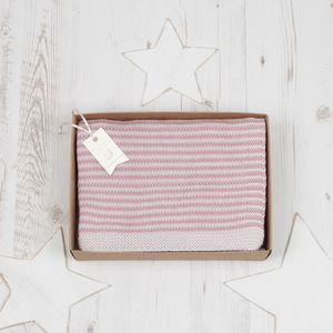 Baby Girl Dainty Stripe Blanket